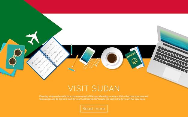 Visita il concetto del sudan per il tuo banner web