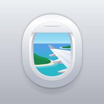Vista dalla finestra dell'aeroplano