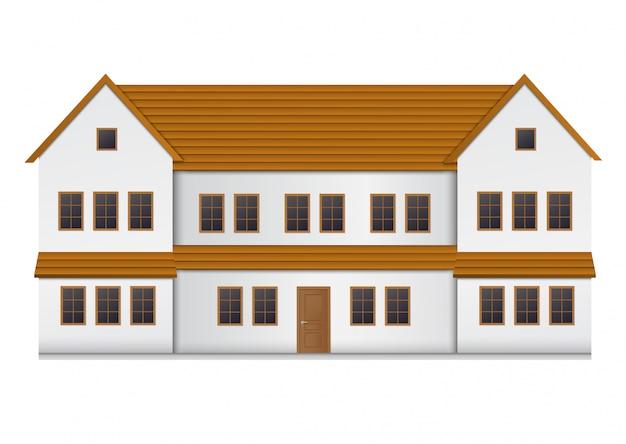 Vista frontale della casa realistica.