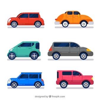 Vista laterale delle automobili
