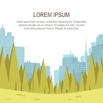 Visualizza panorama city park center big metropolis