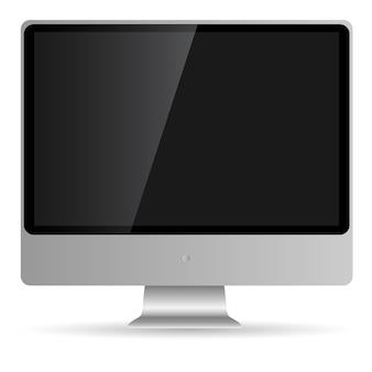 Visualizzatore del computer astratto isolato su bianco