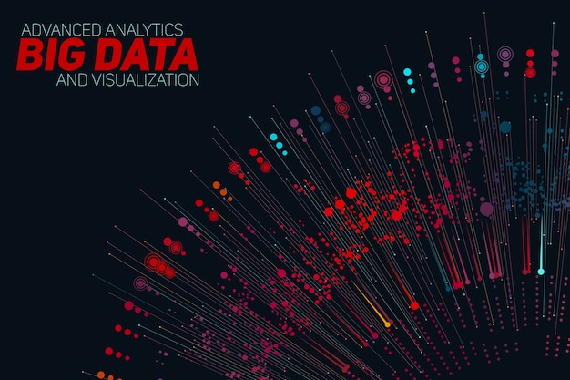 Visualizzazione circolare di big data in scala di grigi. progettazione estetica dell'informazione. complessità dei dati visivi. visualizzazione grafica di thread di dati complessi.