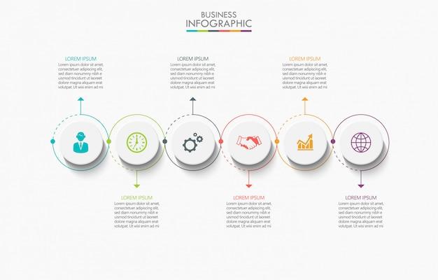 Visualizzazione dei dati aziendali. infografica timeline