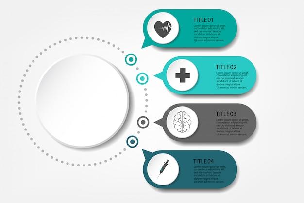 Visualizzazione delle informazioni mediche diagramma di processo abstract