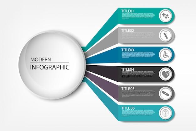 Visualizzazione delle informazioni mediche diagramma di processo elemento astratto