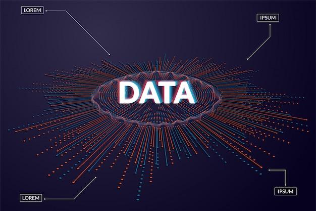 Visualizzazione di grandi quantità di dati. infografica futuristica