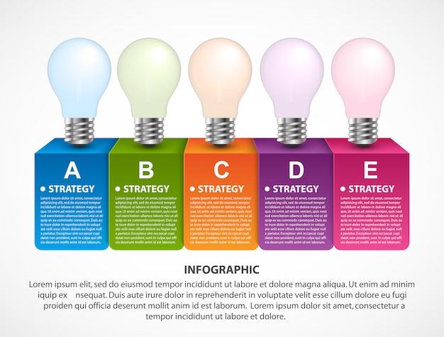 Visualizzazione di infografica aziendale per presentazioni.