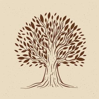 Vita dell'albero disegnato a mano