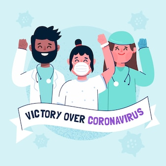 Vittoria sul coronavirus con personale medico