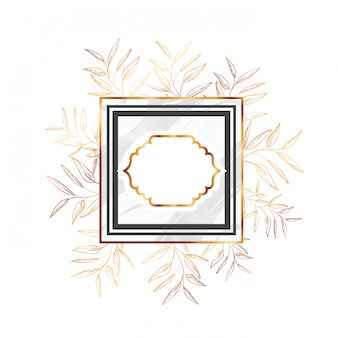 Vittoriano d'oro con cornice e fiori