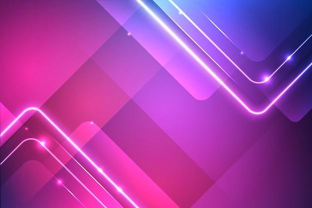 Vivaci luci al neon sullo sfondo