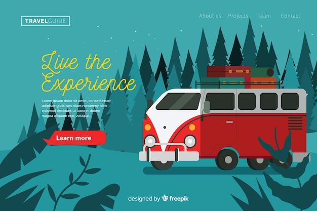 Vivi la landing page del viaggio esperienza