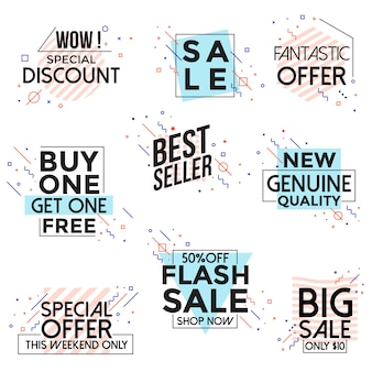 Vivid collection of sale discount banner in stile