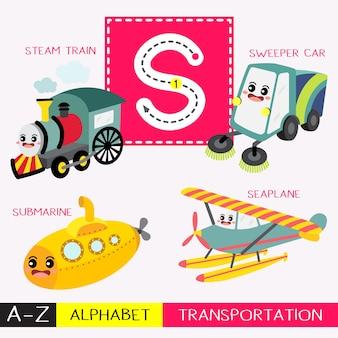 Vocabolario dei trasporti di caratteri maiuscoli di lettere maiuscole