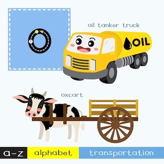 Vocabolario dei trasporti di lettere maiuscole o minuscole