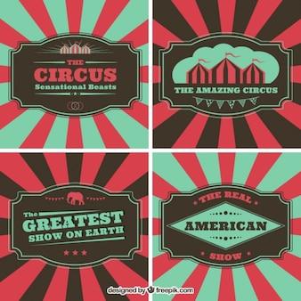 Volantini circo in stile vintage
