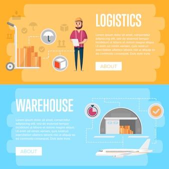 Volantini di logistica e gestione del magazzino