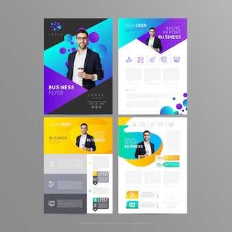 Volantino aziendale di design