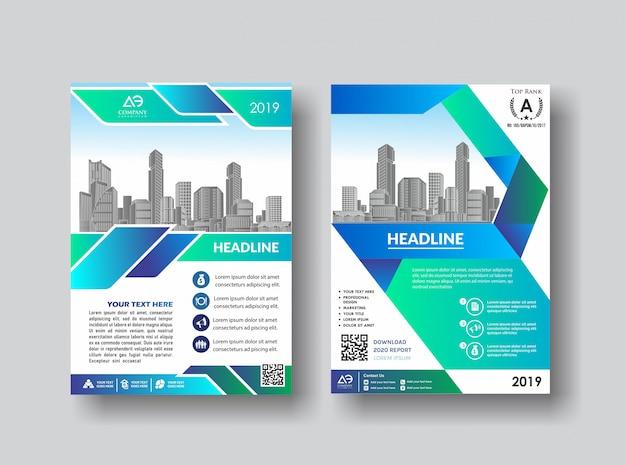 Volantino brochure di layout creativo per l'evento