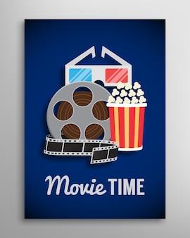Volantino cinema, pubblicità trailer di film