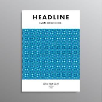 Volantino design brochure, modello o layout aziendale in formato a4 con motivo astratto blu. illustrazione di riserva