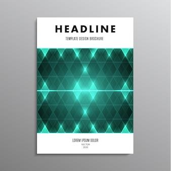 Volantino design brochure, modello o layout aziendale in formato a4 con sfondo astratto diamante. illustrazione di riserva
