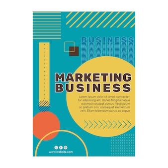 Volantino di attività di marketing a5