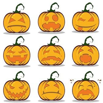 Volantino di halloween design set