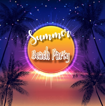 Volantino di summer beach party