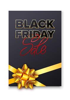 Volantino di vendita del black friday