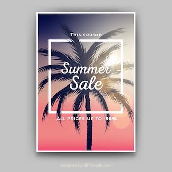 Volantino di vendita estiva realistica