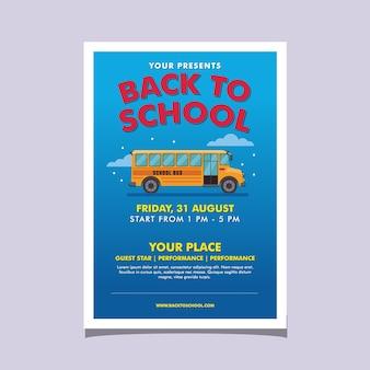 Volantino evento di ritorno a scuola