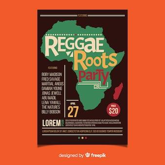 Volantino festa delle radici del reggae