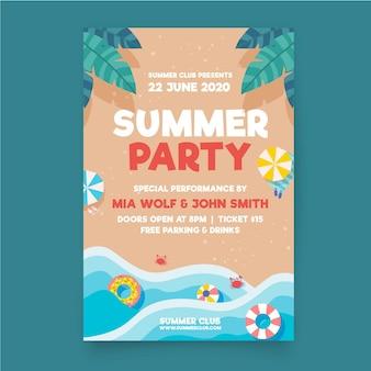 Volantino festa estate design piatto