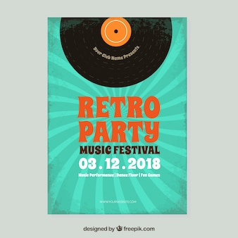 Volantino festival di musica retrò