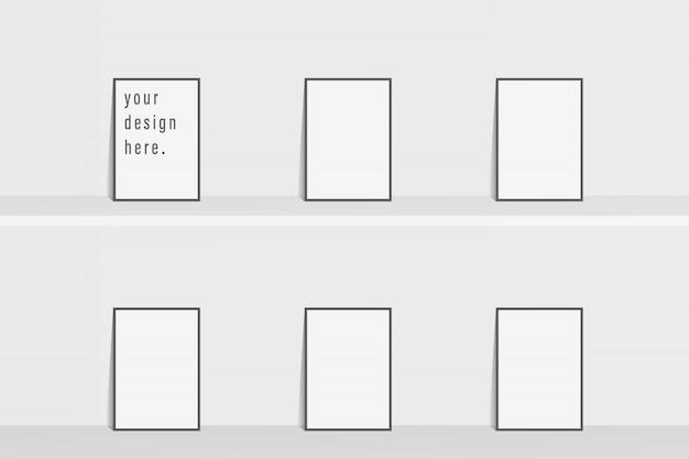 Volantino modello brochure semplice sfondo di colore bianco
