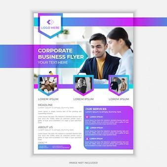 Volantino moderno business aziendale con sfumatura di colore