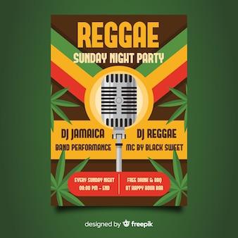Volantino notturno del partito reggae