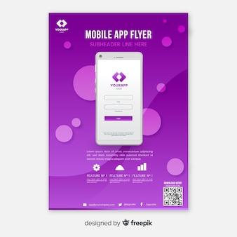Volantino per app flat per telefono cellulare