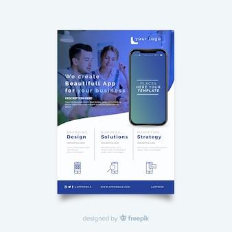Volantino per app per dispositivi mobili