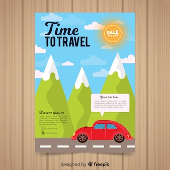 Volantino per auto in montagna