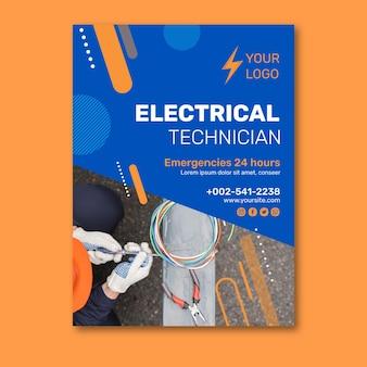 Volantino per elettricista v design
