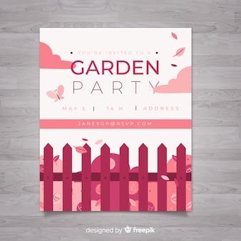 Volantino per festa in giardino