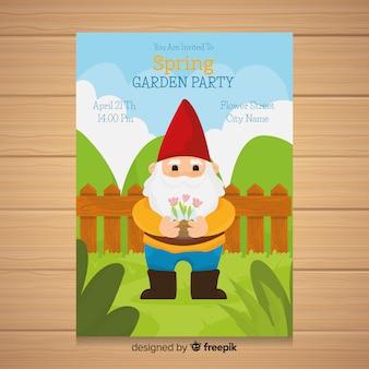 Volantino per feste in giardino