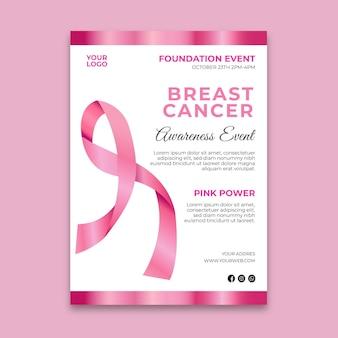 Volantino per la consapevolezza del cancro al seno