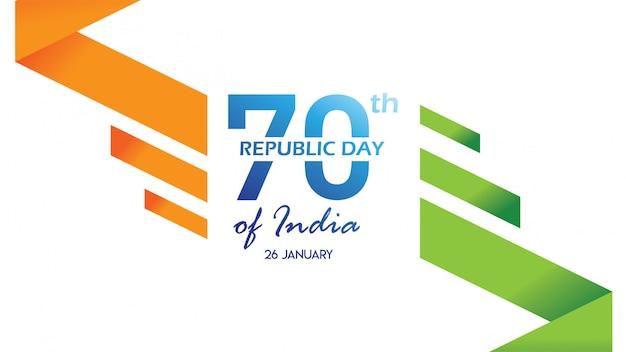 Volantino per la festa della repubblica dell'india