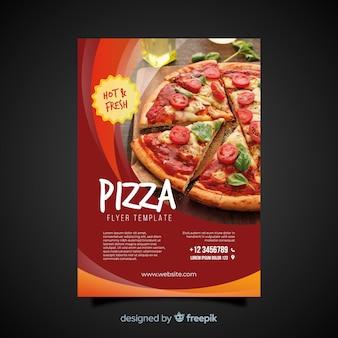 Volantino per la pizza fotografica