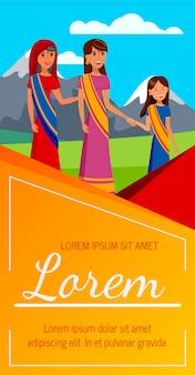Volantino per la protezione dei diritti delle donne, layout brochure