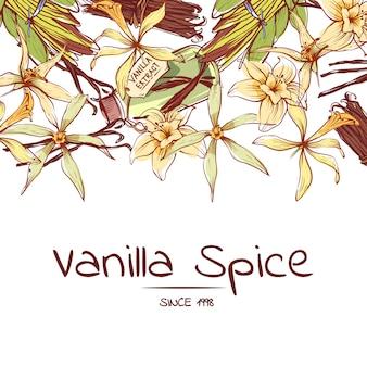 Volantino per spezie alla vaniglia per azienda pubblicitaria